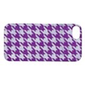 HOUNDSTOOTH1 WHITE MARBLE & PURPLE DENIM Apple iPhone 5S/ SE Hardshell Case View1