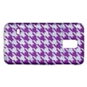 HOUNDSTOOTH1 WHITE MARBLE & PURPLE DENIM Galaxy S5 Mini View1