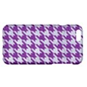 HOUNDSTOOTH1 WHITE MARBLE & PURPLE DENIM Apple iPhone 6 Plus/6S Plus Hardshell Case View1