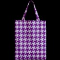 HOUNDSTOOTH1 WHITE MARBLE & PURPLE DENIM Zipper Classic Tote Bag View2