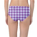 HOUNDSTOOTH1 WHITE MARBLE & PURPLE DENIM Mid-Waist Bikini Bottoms View2