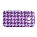 HOUNDSTOOTH1 WHITE MARBLE & PURPLE DENIM Galaxy S6 Edge View1