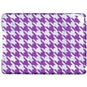 HOUNDSTOOTH1 WHITE MARBLE & PURPLE DENIM Apple iPad Pro 9.7   Hardshell Case View1