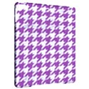 HOUNDSTOOTH1 WHITE MARBLE & PURPLE DENIM Apple iPad Pro 9.7   Hardshell Case View2