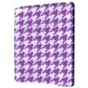 HOUNDSTOOTH1 WHITE MARBLE & PURPLE DENIM Apple iPad Pro 9.7   Hardshell Case View3