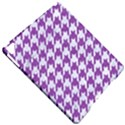 HOUNDSTOOTH1 WHITE MARBLE & PURPLE DENIM Apple iPad Pro 9.7   Hardshell Case View4