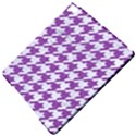 HOUNDSTOOTH1 WHITE MARBLE & PURPLE DENIM Apple iPad Pro 9.7   Hardshell Case View5