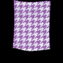 HOUNDSTOOTH1 WHITE MARBLE & PURPLE DENIM Large Tapestry View2