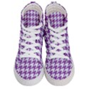 HOUNDSTOOTH1 WHITE MARBLE & PURPLE DENIM Women s Hi-Top Skate Sneakers View1