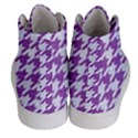 HOUNDSTOOTH1 WHITE MARBLE & PURPLE DENIM Women s Hi-Top Skate Sneakers View4