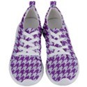 HOUNDSTOOTH1 WHITE MARBLE & PURPLE DENIM Women s Lightweight Sports Shoes View1