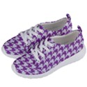 HOUNDSTOOTH1 WHITE MARBLE & PURPLE DENIM Women s Lightweight Sports Shoes View2
