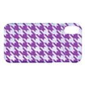 HOUNDSTOOTH1 WHITE MARBLE & PURPLE DENIM Apple iPhone X Hardshell Case View1