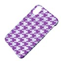HOUNDSTOOTH1 WHITE MARBLE & PURPLE DENIM Apple iPhone X Hardshell Case View4
