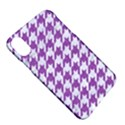HOUNDSTOOTH1 WHITE MARBLE & PURPLE DENIM Apple iPhone X Hardshell Case View5