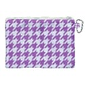HOUNDSTOOTH1 WHITE MARBLE & PURPLE DENIM Canvas Cosmetic Bag (XL) View2