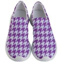 HOUNDSTOOTH1 WHITE MARBLE & PURPLE DENIM Women s Lightweight Slip Ons View1