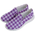 HOUNDSTOOTH1 WHITE MARBLE & PURPLE DENIM Women s Lightweight Slip Ons View2