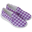 HOUNDSTOOTH1 WHITE MARBLE & PURPLE DENIM Women s Lightweight Slip Ons View3