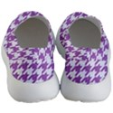 HOUNDSTOOTH1 WHITE MARBLE & PURPLE DENIM Women s Lightweight Slip Ons View4