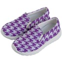 HOUNDSTOOTH1 WHITE MARBLE & PURPLE DENIM Kid s Lightweight Slip Ons View2