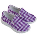 HOUNDSTOOTH1 WHITE MARBLE & PURPLE DENIM Kid s Lightweight Slip Ons View3