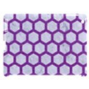 HEXAGON2 WHITE MARBLE & PURPLE DENIM (R) Apple iPad 3/4 Hardshell Case (Compatible with Smart Cover) View1