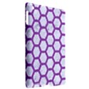 HEXAGON2 WHITE MARBLE & PURPLE DENIM (R) Apple iPad 3/4 Hardshell Case (Compatible with Smart Cover) View2