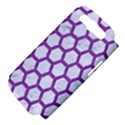 HEXAGON2 WHITE MARBLE & PURPLE DENIM (R) Samsung Galaxy S III Hardshell Case (PC+Silicone) View4