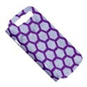 HEXAGON2 WHITE MARBLE & PURPLE DENIM (R) Samsung Galaxy S III Hardshell Case (PC+Silicone) View5