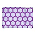 HEXAGON2 WHITE MARBLE & PURPLE DENIM (R) Apple iPad Mini Hardshell Case (Compatible with Smart Cover) View1