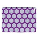HEXAGON2 WHITE MARBLE & PURPLE DENIM (R) iPad Air 2 Hardshell Cases View1