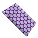 HEXAGON2 WHITE MARBLE & PURPLE DENIM (R) iPad Air 2 Hardshell Cases View5