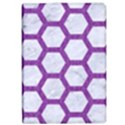 HEXAGON2 WHITE MARBLE & PURPLE DENIM (R) iPad Air 2 Flip View1