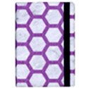 HEXAGON2 WHITE MARBLE & PURPLE DENIM (R) iPad Air 2 Flip View2