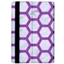 HEXAGON2 WHITE MARBLE & PURPLE DENIM (R) iPad Air 2 Flip View4