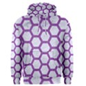 HEXAGON2 WHITE MARBLE & PURPLE DENIM (R) Men s Pullover Hoodie View1