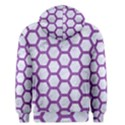 HEXAGON2 WHITE MARBLE & PURPLE DENIM (R) Men s Pullover Hoodie View2