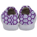 HEXAGON2 WHITE MARBLE & PURPLE DENIM (R) Kids  Classic Low Top Sneakers View4