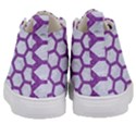HEXAGON2 WHITE MARBLE & PURPLE DENIM (R) Kid s Mid-Top Canvas Sneakers View4