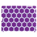 HEXAGON2 WHITE MARBLE & PURPLE DENIM Apple iPad 3/4 Hardshell Case (Compatible with Smart Cover) View1