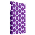 HEXAGON2 WHITE MARBLE & PURPLE DENIM Apple iPad 3/4 Hardshell Case (Compatible with Smart Cover) View2