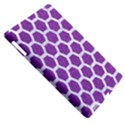 HEXAGON2 WHITE MARBLE & PURPLE DENIM Apple iPad 3/4 Hardshell Case (Compatible with Smart Cover) View5