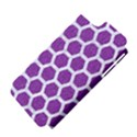 HEXAGON2 WHITE MARBLE & PURPLE DENIM Apple iPhone 5 Hardshell Case (PC+Silicone) View4