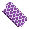 HEXAGON2 WHITE MARBLE & PURPLE DENIM Apple iPhone 5 Hardshell Case (PC+Silicone) View5
