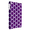 HEXAGON2 WHITE MARBLE & PURPLE DENIM iPad Air Hardshell Cases View2