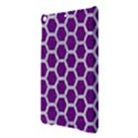 HEXAGON2 WHITE MARBLE & PURPLE DENIM iPad Air Hardshell Cases View3