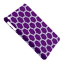 HEXAGON2 WHITE MARBLE & PURPLE DENIM iPad Air Hardshell Cases View5