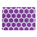 HEXAGON2 WHITE MARBLE & PURPLE DENIM Samsung Galaxy Tab Pro 12.2 Hardshell Case View1