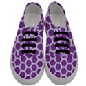 HEXAGON2 WHITE MARBLE & PURPLE DENIM Men s Classic Low Top Sneakers View1